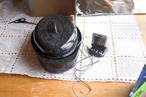 DIY Solar Oven: testing