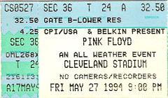 Pink Floyd ticket 1994