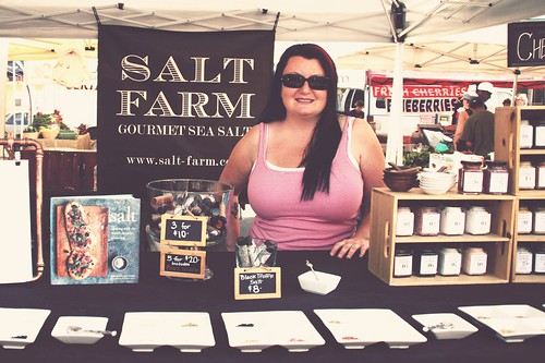 tonya at the salt farm stand