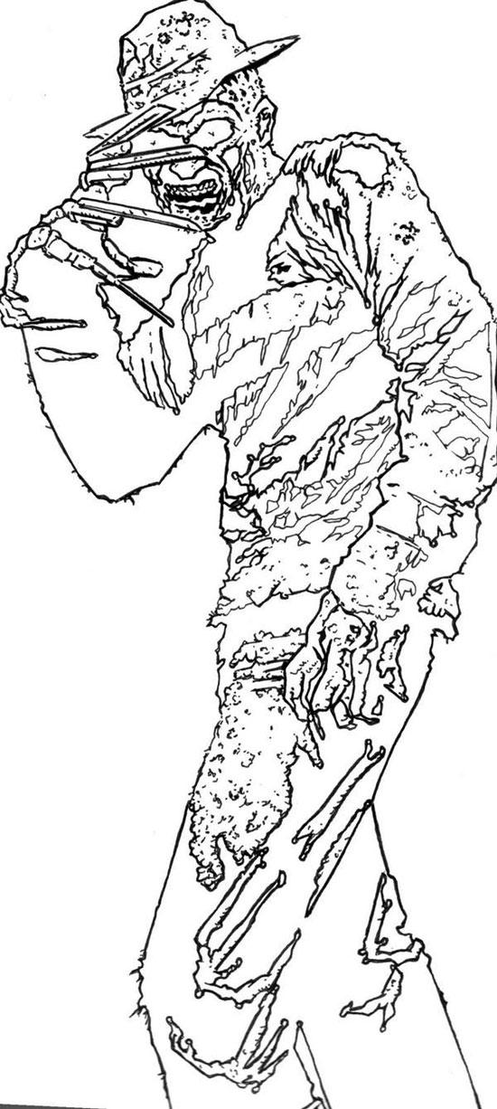 richard-serrrao-midnight-freddie-krueger-pen-and-ink-1
