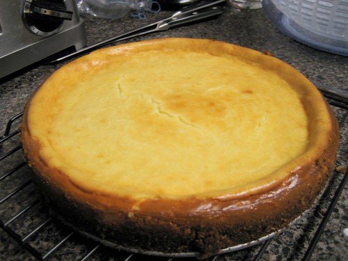 cheesecake out of the pan