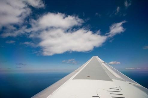 Flying to Boston