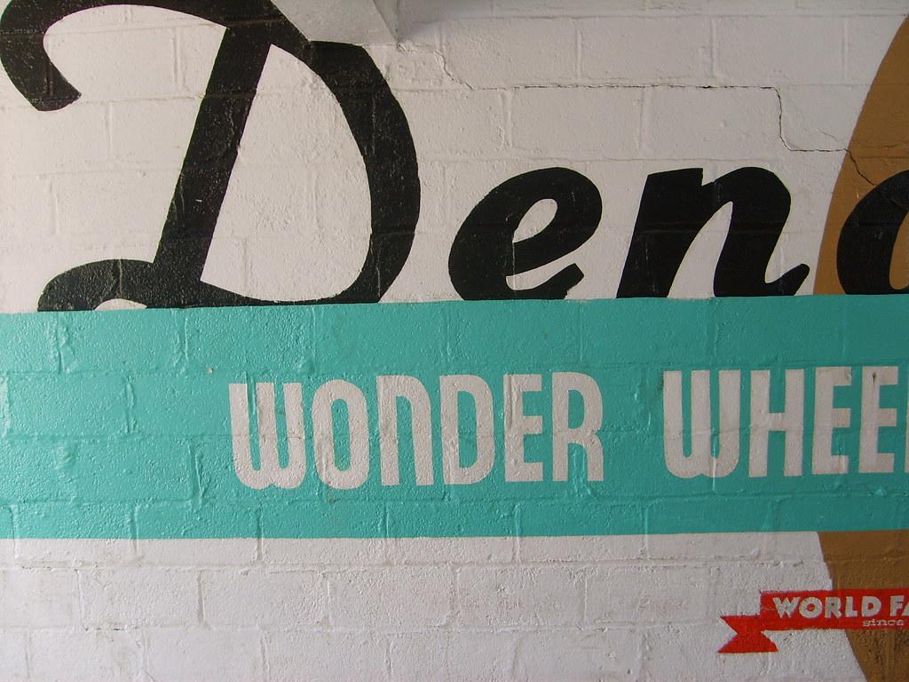 Hand painted in walkway to the Wonder Wheel