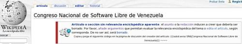 Congreso Nacional de Software Libre de Venezuela - Wikipedia, la enciclopedia libre