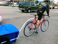 Santa Cruz bike courier