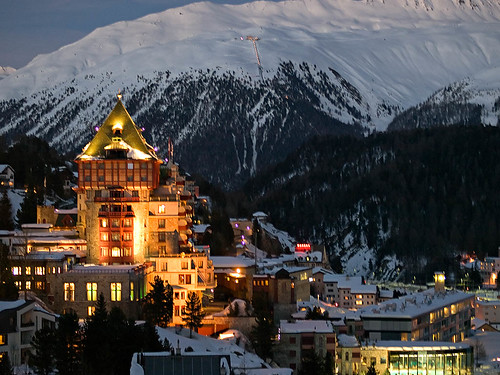 A photo of St. Moritz in the Evening