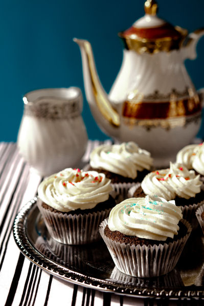 Guinness cupcakes with chocolate whiskey ganache and Baileys buttercream
