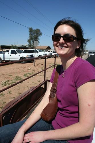 Sarah, soaking up the sun