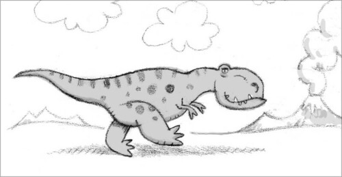 """sketch for """"I'm a T-Rex!"""""""