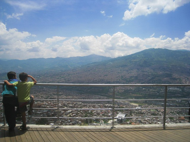 View of Medellin from Biblioteca Espana