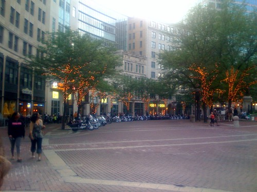 Motorcycles on the circle