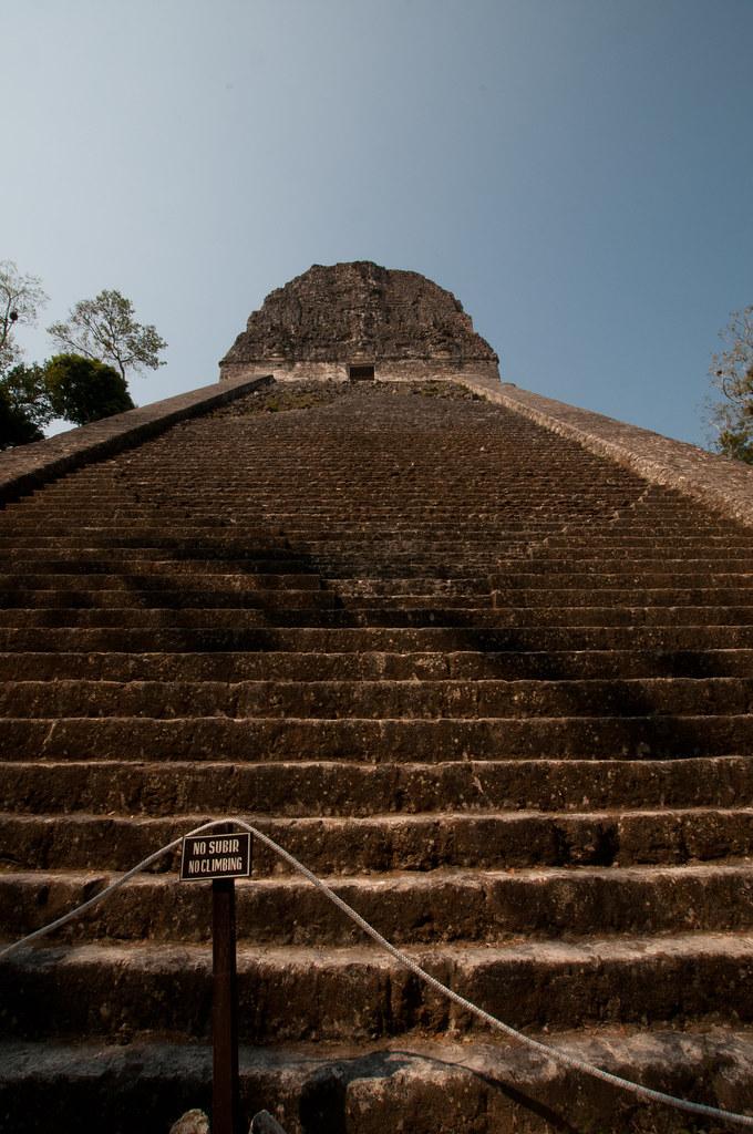 Temple V in Tikal Ruins