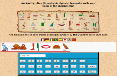 Ancient Egyptian Hieroglyphic alphabet translator