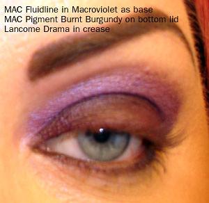 MAC Fluidline - Mac Pigment - Lancome eyeshadow