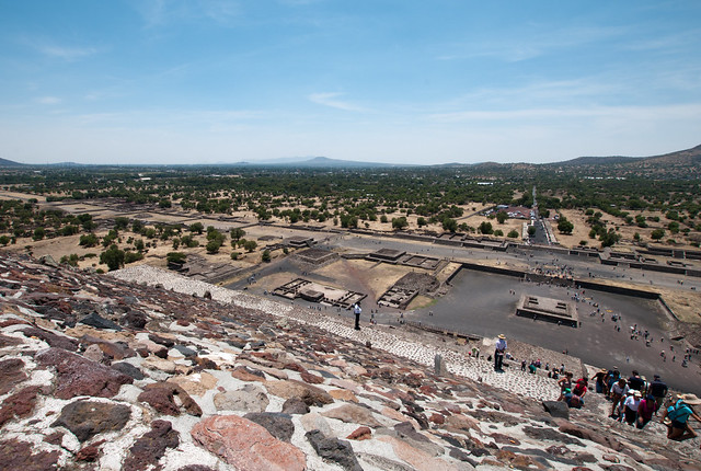 View from the top of Teotihuacan