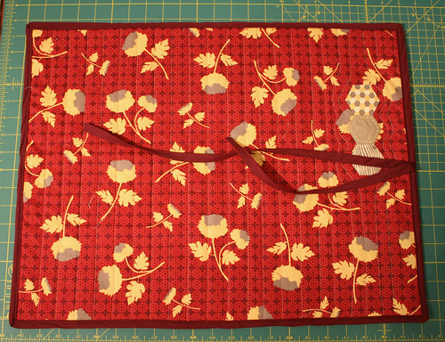Quilted Knitting Needle Case Pattern : Quilted case for knitting needles the charming needle