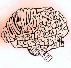 """""""Brain Vocab Sketch"""" © 2009 by Zachary Veach"""