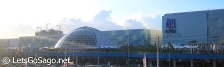SM City North Edsas Sky Garden from afar