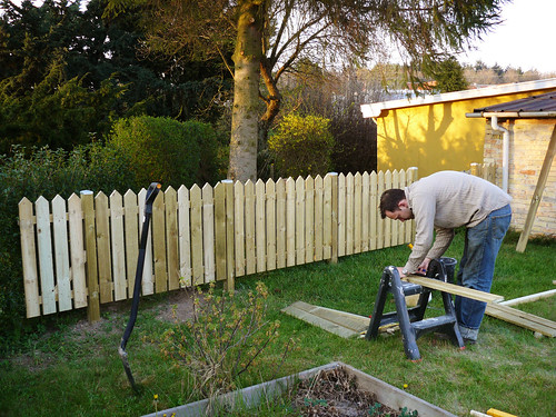 Finishing the fence