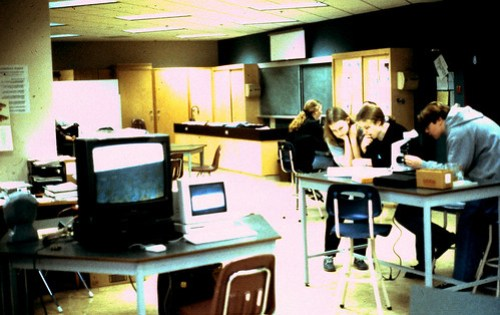 Students at Work in Open Lab