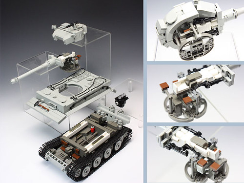LEGO tank exploded view