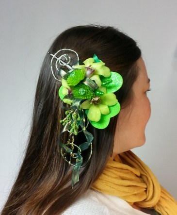 St Patrick's Day Hair Clip by Blumz by JRDesigns in metro Detroit