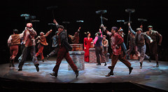 """The Sweeps perform """"Step In Time"""" in Mary Poppins, produced by Music Circus at the Wells Fargo Pavilion July 8 - 13, 2014. Photos by Charr Crail."""