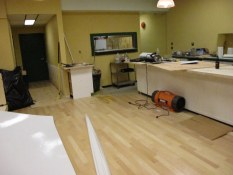 Lunch counter construction at Deacon's Corner