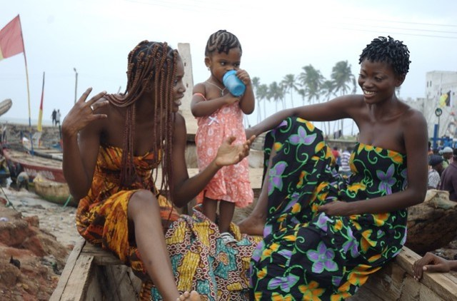 Nana Yaa, Candace and Doris in Elmina