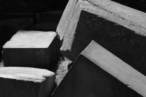 ollantaytambo peru stone black and white photo fortress
