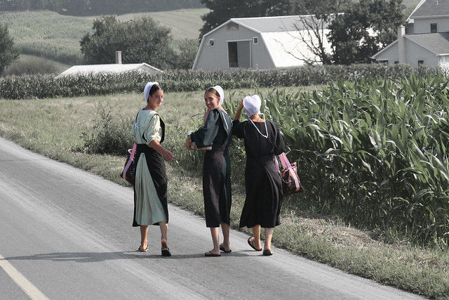ticklish barefoot amish women