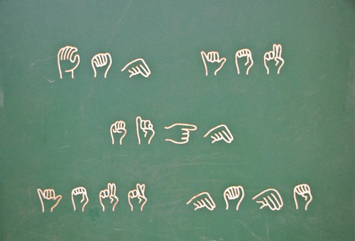 Learn sign language at the playground