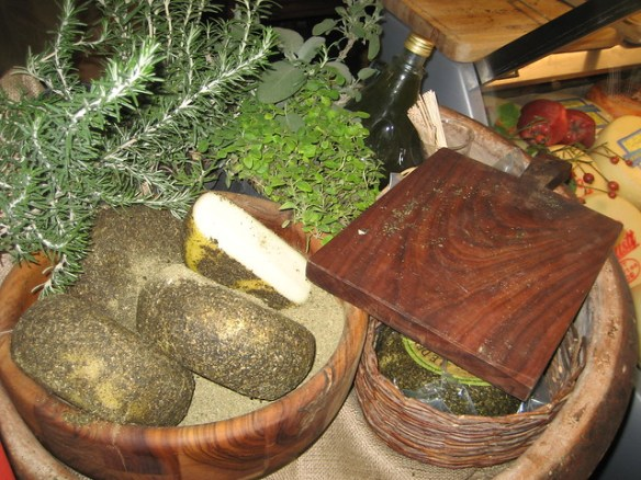 cheese in herbs