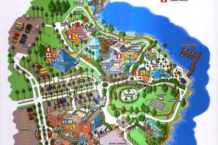 map to moody gardens