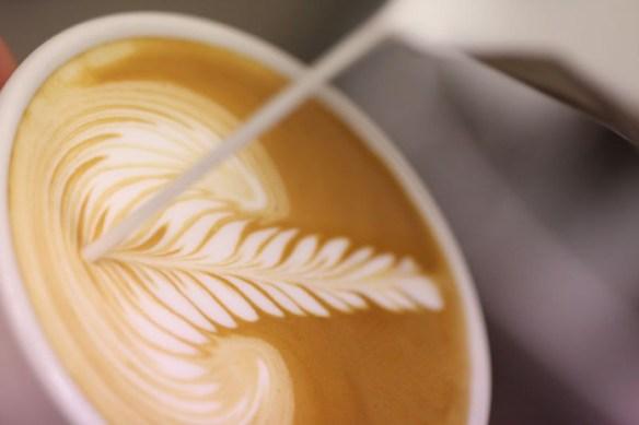 Kimbo latte art taken by Richo