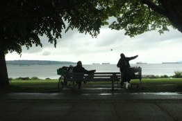 A wet June day on English bay