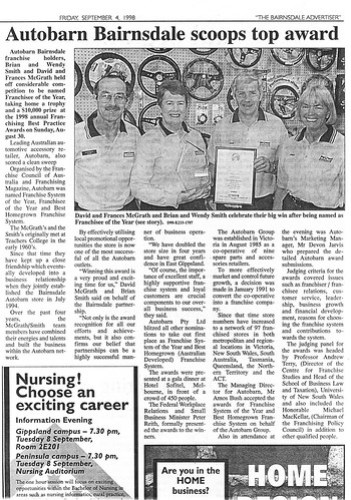 1998 - Franchisee of the Year