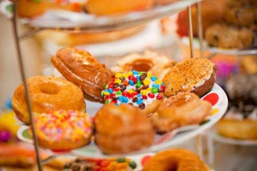 Doughnuts close up