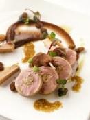 galantine of quail, foie gras and jasmine-poached raisins