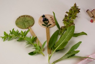 Polymer Clay Plant Markers with Herbs