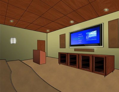 Media Room Render