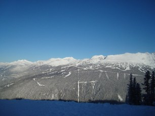 Looking over to Blackcomb from Whistler mountain. Apparently the sun always shines over there.