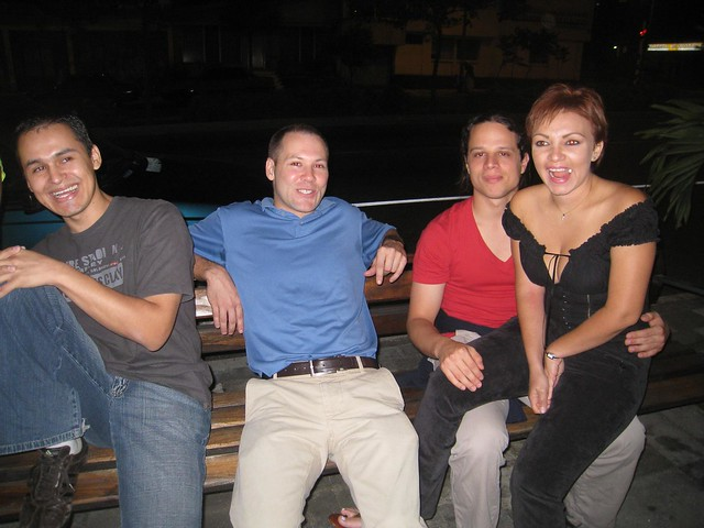Casey (center) and Martin with Joanna