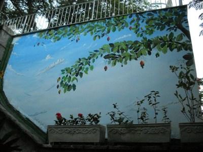 Cajueiro - Painel feito em Santa Teresa - Rio de Janeiro