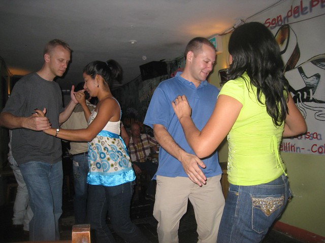 Salsa dancing at La Rumbantela
