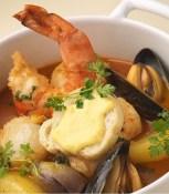 The signature seafood Cioppino