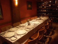 The Antinori Wine Room seats 12