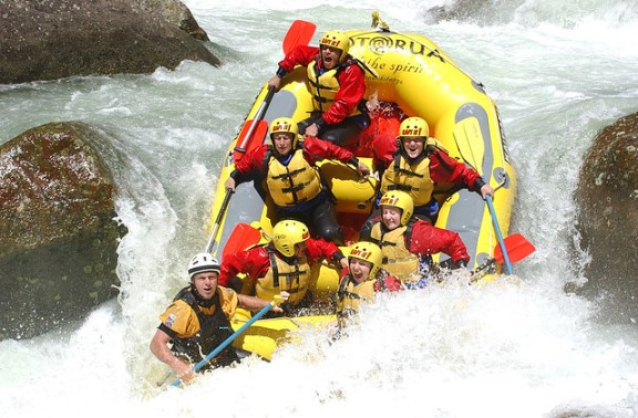 white water rafting on the Wairoa River