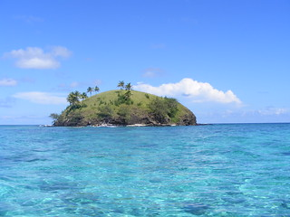 Island with clear waters