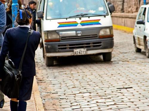 Peru combi schoolgirl cusco cuzco